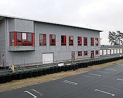 Die 870 Meter lange Kartbahn in Emsbüren