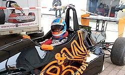 Der Teameigene Formelwagen zu Testzwecken für die Nachwuchspiloten